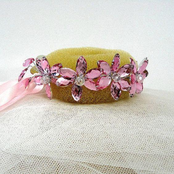 Rosa Ballett Bun Wrap rosa Fascinator Bun von CostumePatternTrim