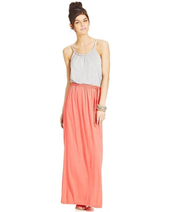 block-pink-rose-juniors-colorblocked-maxi-dress-screen- | Casual ...