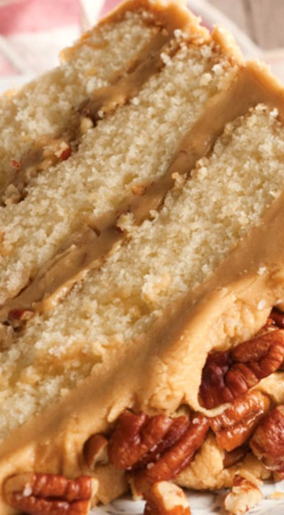 Pecans, Caramel and Cake recipes on Pinterest
