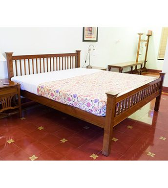 Cot Royal Bed Chettinad Teak Wood Furniture Pc 15582 Wooden Bed Design Bed Furniture Furniture