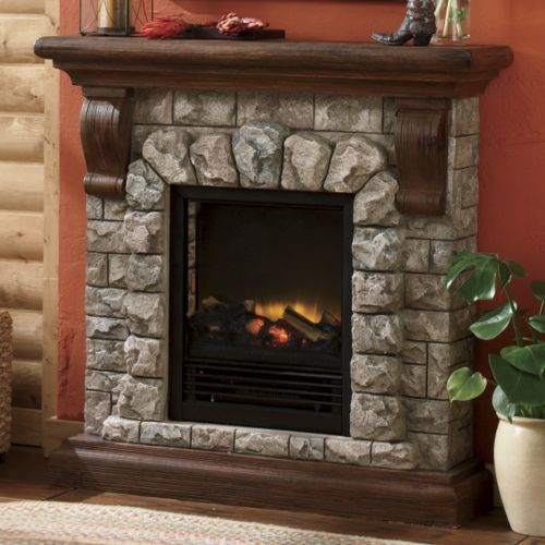 Faux Stone Stone Electric Fireplace And Faux Stone Fireplaces On Pinterest