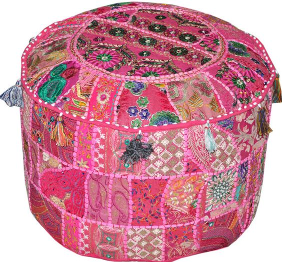 round footstool cover 1