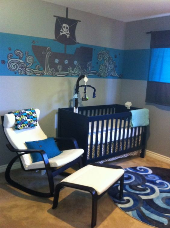 Design elements, Baby rooms and Pirate nursery on Pinterest