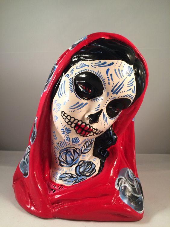 Day of the Dead Virgin Mary, Low Brow art on Etsy: hey Joey 74.