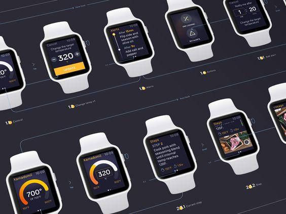 Watch app design by Maria Shanina