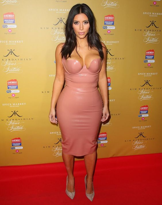 Pin for Later: Kim Kardashian Doesn't Need to Be Naked to Show Off Her Curves
