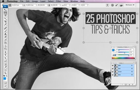 25 photoshop tips and tricks.
