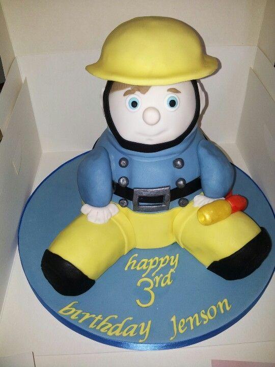 3D fireman sam cake #Fireman #Sam #cake