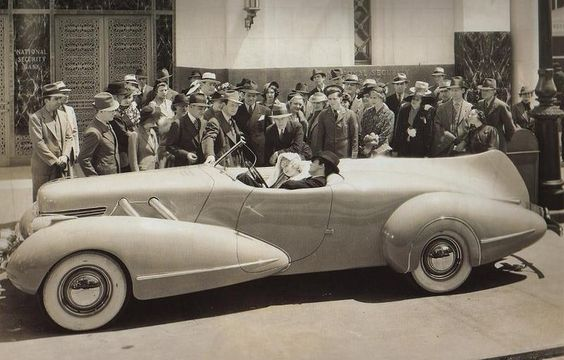 Cary Grant in what is believed to be a Cord prototype