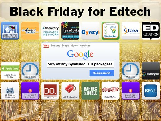SymbalooEDU teamed up with Mackin, Discovery Education, Gynzy, Dedicated Teachers & more to bring teachers once a year Black Friday deals! (SymbalooEDU discounts available from Nov 29 Dec 2)