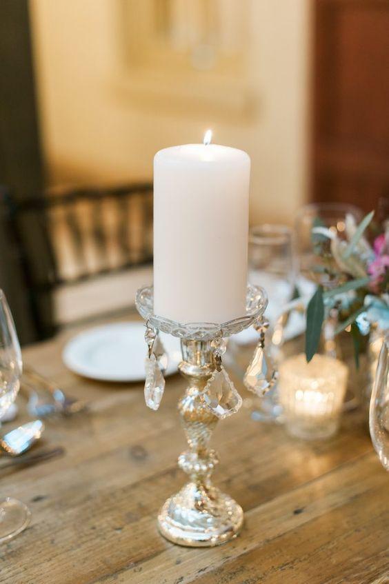 Shea Christine Photography; chic rustic wedding reception table decor idea; featured photographer: shea christine photography