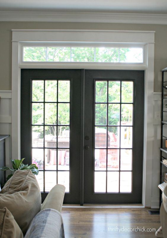 Black doors never would have thought of it dream home for Interior french patio doors