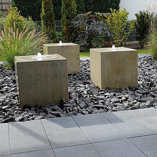 Brunnen - Wasserspiele - Birkenmeier vijver Pinterest - garten brunnen stein ideen