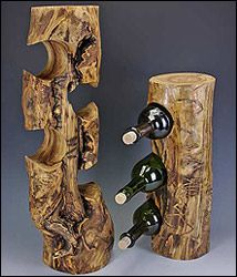 Add rustic log cabin charm to your home with Mountain Woods Furniture's unique wine racks! Visit LogFurnitureCo.com TODAY to view more rustic products!