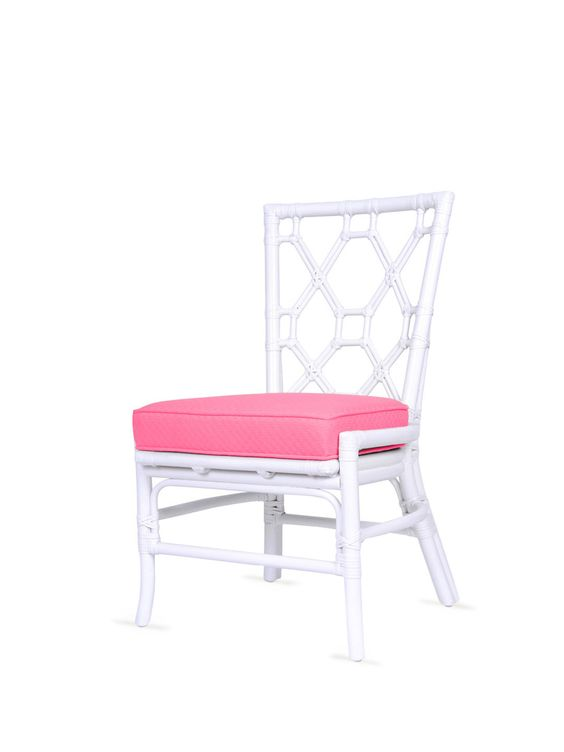 David Francis  Lattice Back Side Chair