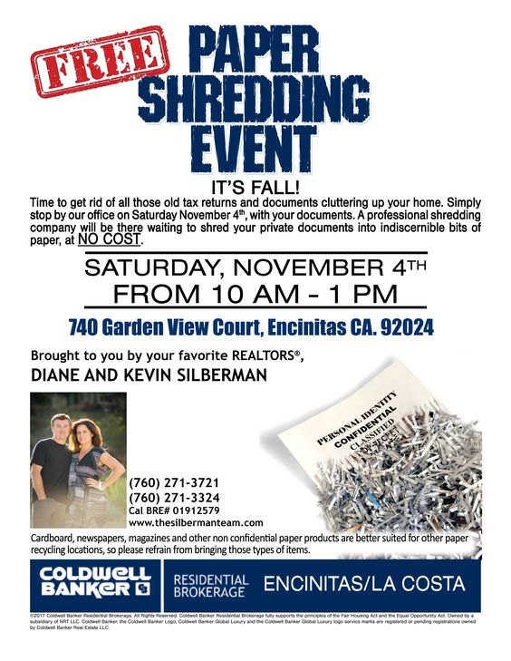 Free Paper Shred Event