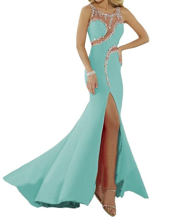 RongrongWang Sequin Neck Cut Out Split Prom Dresses 2016 Size 24W US Mint. Fabric:chiffon. Floor Length. Hand Wash. Neck Cut Out Split. Export.