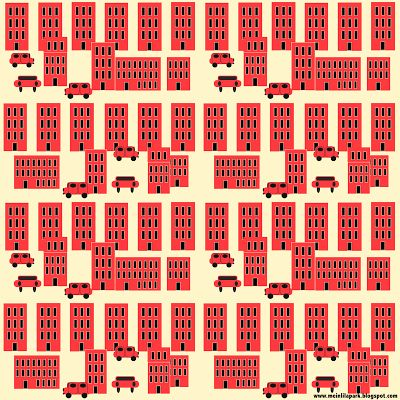FREE #printable city in red #scrapbooking and fun #paper #houses