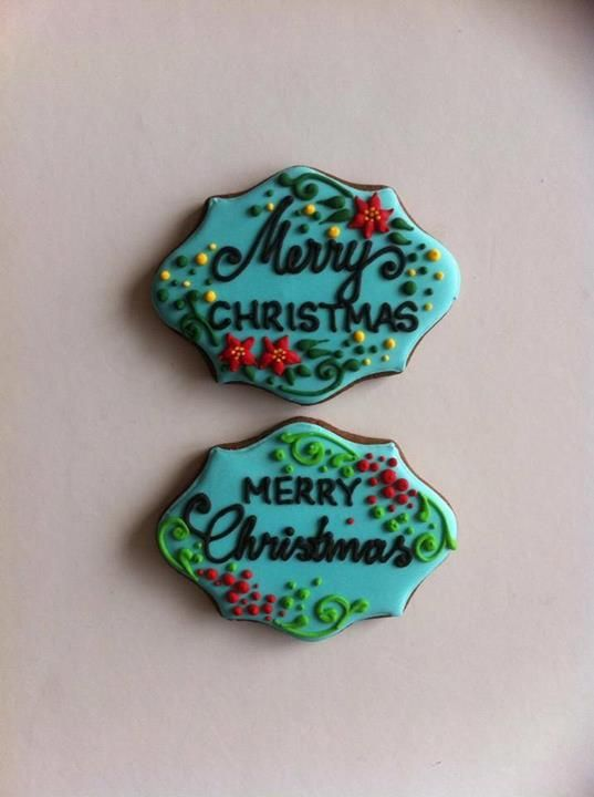 Christmas plaque cookies
