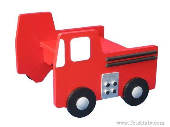 Fire engine stool
