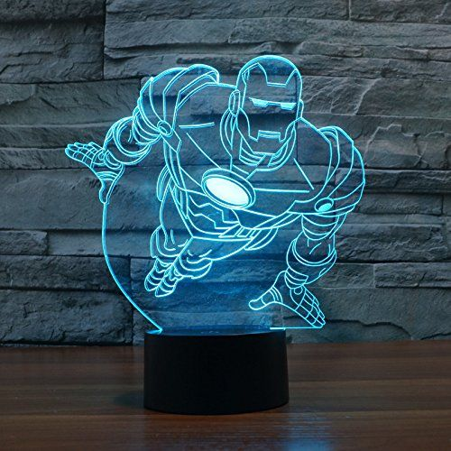 Flying Iron Man Superhero Lamp 3d Led For Desk Table Star War Clone Troopers Night Light 7 Color Change Lighti Night Light Kids 3d Night Light 3d Illusion Lamp