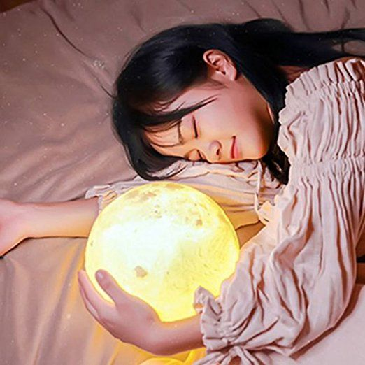 Personalized Night Light 3d Printing Customize Moon Lamp Usb Charging Touch Control Brightness Two Tone Decorative Night Lights Nursery Night Light Night Light