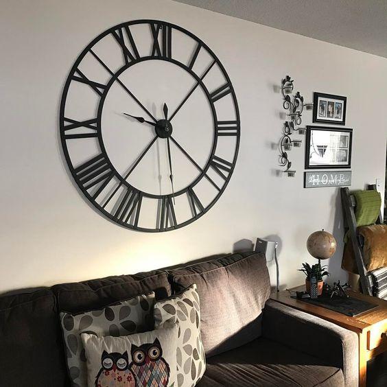 Roman metal numeral wall clock