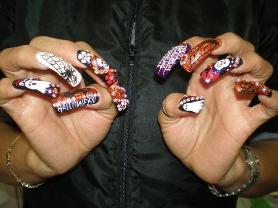 Halloween nails by Paris Nails (los angeles, Ca)