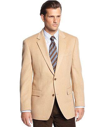 Michael Michael Kors Jacket Solid Camel Hair Sportcoat Big and