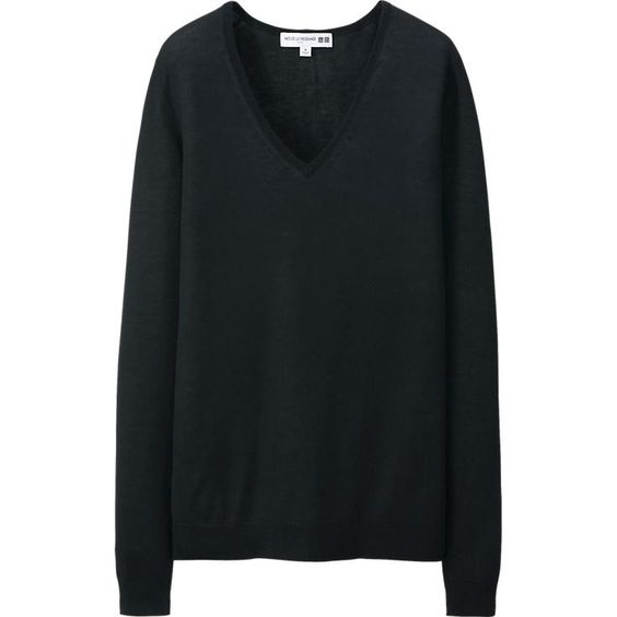 WOMEN IDLF SILK BLEND V NECK LONG SWEATER | UNIQLO