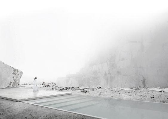 Galeria de Projeto vencedor do concurso internacional Carrara Thermal Baths…