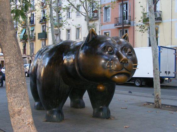 Botero gato, La Rambla, Barcelona