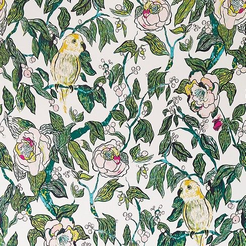 Canary Floral Peel Stick Wallpaper Opalhouse Peel And Stick Wallpaper Temporary Wallpaper Opalhouse