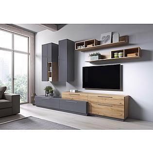 Trendmanufaktur Wohnwand Anke Set 5 Tlg Auf Rechnung Kaufen Wohnen Schrankwand Und Wohnung Wohnzimmer