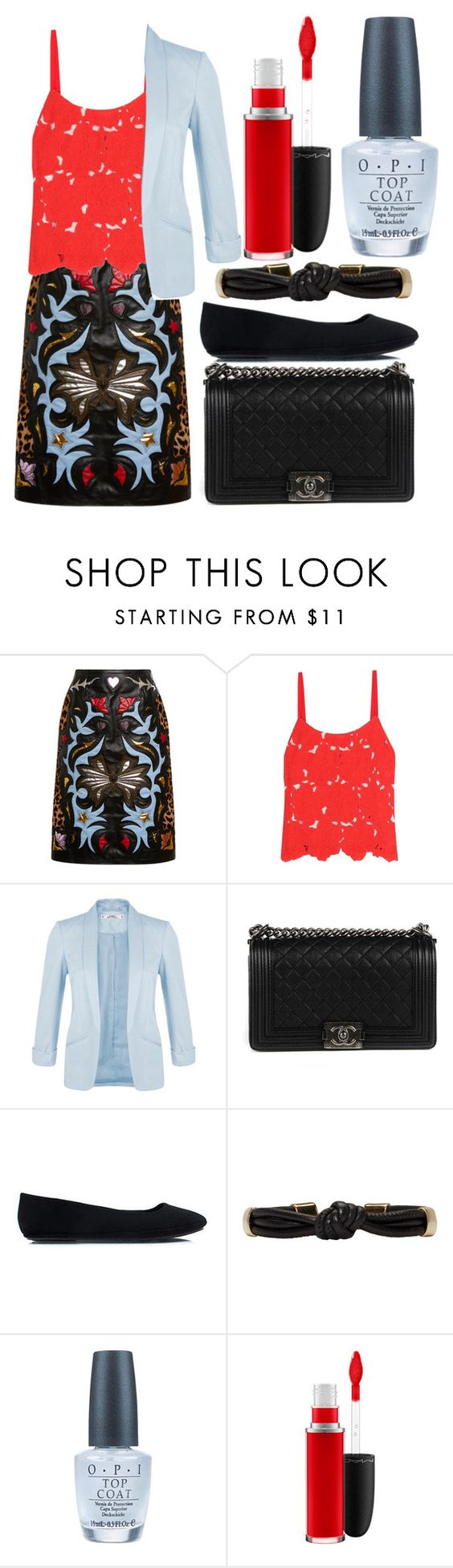 """""""If You Can Keep A Secret"""" by egordon2 ❤ liked on Polyvore featuring Mary Katrantzou, Alice + Olivia, Miss Selfridge, Chanel, Isabel Marant, OPI and MAC Cosmetics"""