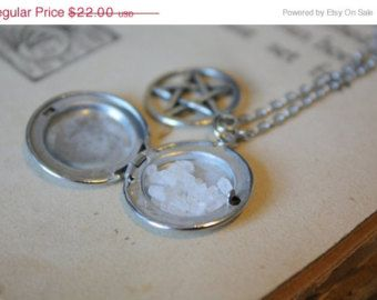 ON SALE Supernatural Protection Necklace - Sea Salt Protection Locket