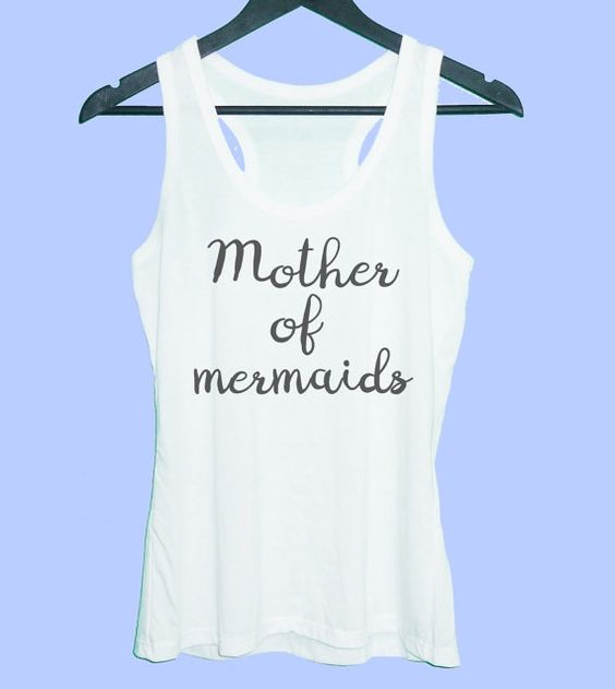 Mother of mermaids tank top Grey tunic dress or by TuesdayTee