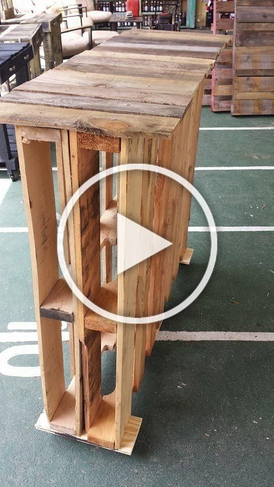 Minibar On A Pallet On Wheels Easy To Move Ideal For A Small