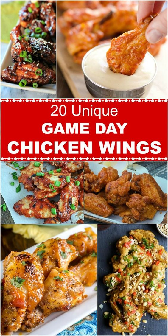 15 Recipes for Chicken Wings   GleamItUp