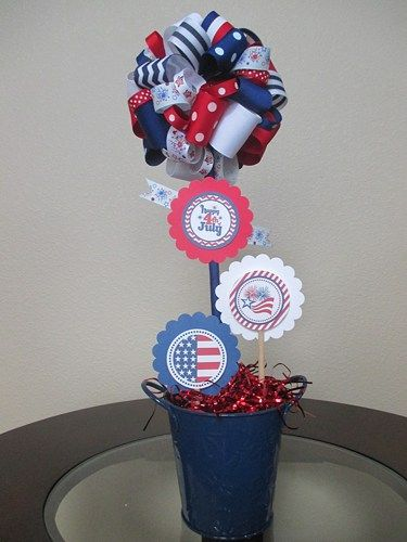 So cute and fun! What a great way to celebrate Independence Day and all of our Patriotic Days! Perfect centerpiece or decoration at your party or for an every day decoration. Be sure to use it year af