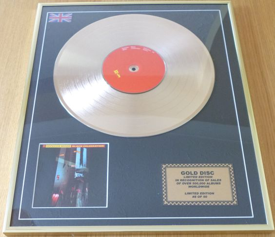 My Black Celebration Gold Disc. A leaving present from a previous job.