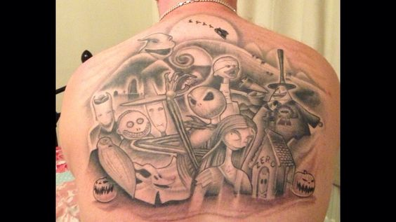 The Nightmare Before Christmas Tattoo 15 hours Tattooing
