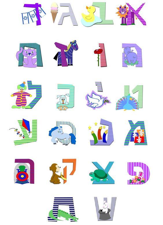 Hebrew Alphabet for Kids | Hebrew/Shebrew | Pinterest ...