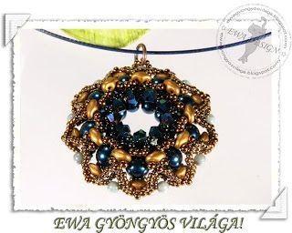 Ewa gyöngyös világa!: Kéla medál / Kela pendant