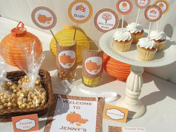 Baby Shower Decoration Packages : Fall baby shower decorations package printable by