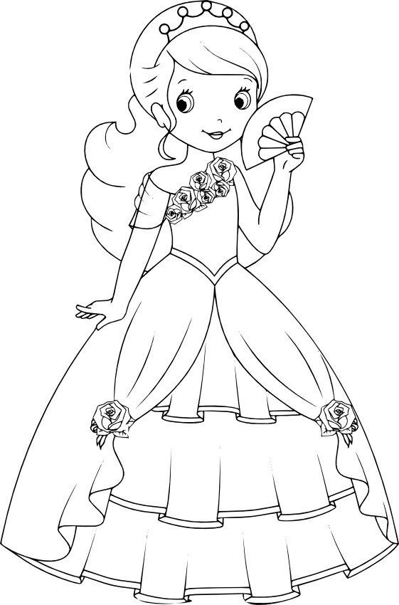 Princessa S Veerom Princess Coloring Pages Disney Princess