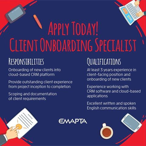 we are looking for talented and passionate individuals to join our team as client onboarding specialist we offer above average compensation great - Onboarding Specialist
