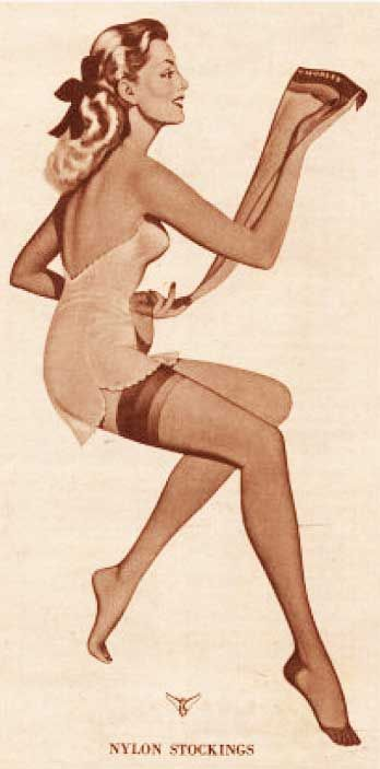 1930s Fashion - The invention of Nylon Stockings | Glamourdaze