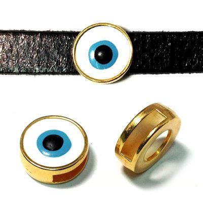 Eye slider with enamel