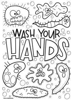 Coloring Pages On Washing Hands Warna Gambar Mencuci Tangan
